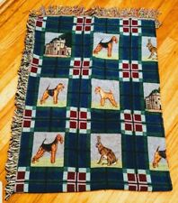 Airedale Lakeland Welsh Terrier Dog Akc Breeds blanket, new mydogsocks