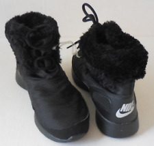 new arrival 31cab d6df1 Nike Women s Kaishi Winter High Shoes Boots Faux Fur Black Size 6 New