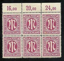 GERMANY 1945, Allied Militay Government, Brunswick Print - ERRORS .Scott 3N15