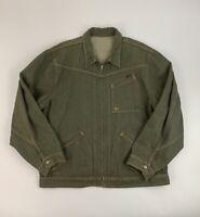Vtg Polo Jeans Ralph Lauren  Mens XXL Gray Wash Button Front Denim Jean Jacket
