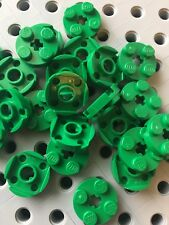 LEGO Green 2x2 Round Plate With Axle Hole Pieces Bricks New Part 4032 Lot Of 24