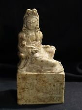 statue Guanyin Chine 19 th Qing dynastie stéatite China