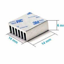 4x Disipador De Calor de Aluminio Refrigerador 14x14x6 mm para el LED, CPU, GPU