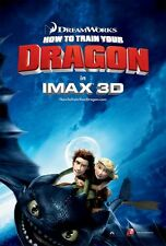 """HOW TO TRAIN YOUR DRAGON 2010 RARE IMAX VERSION DS 2 Sided 27x40"""" Movie Poster"""