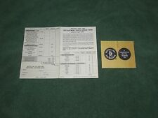 1967 MATTEL REPLACEMENT PARTS ORDER FORM & WARRANTY CARD