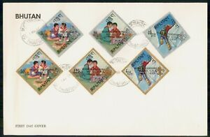 Mayfairstamps Bhutan FDC 1967 Boy Scouts World Jamboree Combo First Day Cover ww