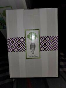 NEW Scentsy Vintage Glass Plug In Mini Nightlight Warmer NIB Green