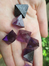 "1 Purple Fluorite Crystal Octahedron ""Our Pick"" Hardin Co. IL Sacred Geometry"