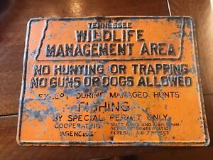 Tennessee Wildlife Managment Area Metal Sign