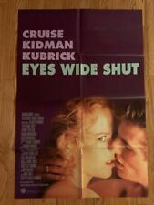 Eyes Wide Shut ('99) One Sheet Movie Poster Tom Cruise Kidman Pollack Kubrick