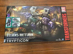 Transformers Titans Return TRYPTICON Necro Full-Tilt Titan Class Hasbro Sealed