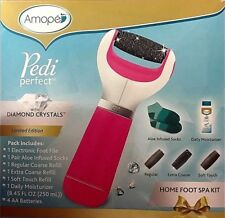 Amope Pedi Perfect Pink Electronic Home Foot Spa Kit W/Lotion&Aloe Infused Socks