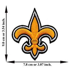 Yellow Fleur De Lis Symbol V02 Logo Applique Iron on Patch Sew Free Shipping