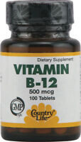 Vitamin B-12, Country Life, 60 tablet