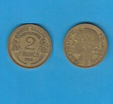 gertbrolen 2 Francs Type Morlon Cupro-Aluminium 1935  Année rare Exemplaire N°8