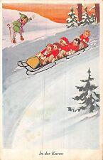 POSTCARD  CHILDREN    SWITZERLAND    Winter  Sports   Tobogganing