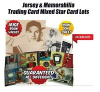 Mixed Sports Jersey & Memorabilia Insert Trading Cards 10 Card Lot MIXED SPORT