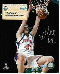 NY Knicks David Lee Autographed 8x10 Steiner COA Signed Basketball Action Photo