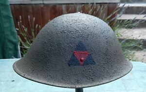 Replica WW2 Turtle Helmet (converted Mk4 to mk3) 3rd infantry Division
