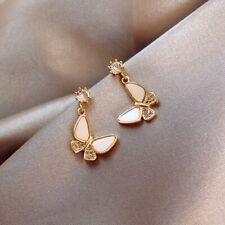 Fashion Butterfly Design Earrings Diamonds Stud Earrings 925 Silver