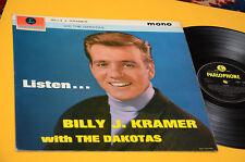 BILLY KRAMER & THE DAKOTAS LP LISTEN 1°ST ORIG UK 1963 EX LAMINATED COVER MONO