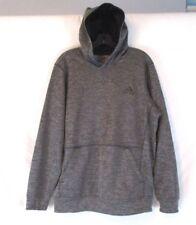 Adidas Climawarm Mens Jacket Hoodie Gray Sz M Pull Over Long Sleeve CB83J