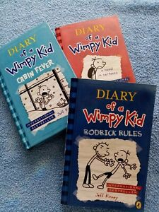 Diary Of A Wimpy Kid X3 Books