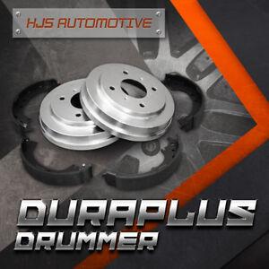 Duraplus Premium Coated Brake Drums Shoes [Rear] Fit 95-05 Dodge Neon w/5 Lugs