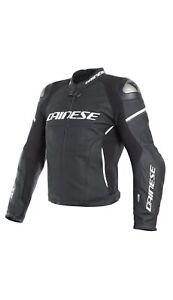 Dainese Racing 3 Leather Jacket Black Motorcycle Sport Jacket New