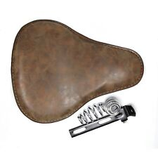 """Motorcycle Leather Solo Seat 3"""" Spring Bracket Mounting Bobber Chopper Custom"""