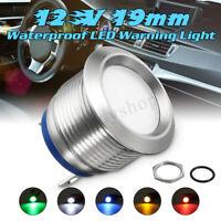 12/24V 19MM LED Dashboard Warning Light Pilot Car Van Dash Panel Indicator Lamp
