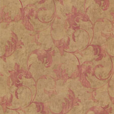 TE29306 - Texture Style Antique look flowers Gold Red Galerie Wallpaper