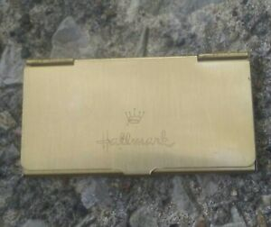 Vintage Hallmark Gold Tone Business Card Holder.