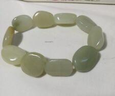Certified Hetian jade beads bracelet adjustment length, gemstone bracelet L19cm