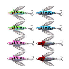 8pcs/lot Ice Fishing Jigs Lure Winter Glow Spoon Minnow Luminous Jigging Bait