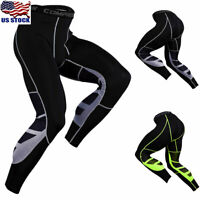 Men Compression Pants Gym Base Layer Skin Tights Running Workout Sports Trousers