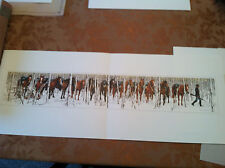 Bev Doolittle TWO INDIAN HORSES print WSS portfolio Item 10 info sheet included