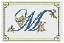 Alphabet Letter M  Cross Stitch Kit by Florashell