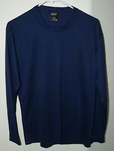 Men's Patagonia Size M Capilene Crew Tee Base Layer Blue Long Sleeve T-Shirt