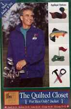 JACKET Pattern UNCUT SEW YOUR MENS GIFTS QUILTED w/ APPLIQUE ALL SIZES