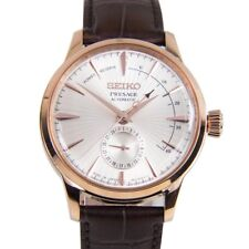 New Seiko Presage Cocktail Automatic Rose-Tone Stainless Steel Mens Watch SSA346