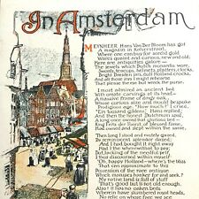 1922 IN AMSTERDAM poem and color print EUGENE FIELD drawing of DUTCH NETHERLANDS