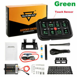 Auxbeam 8 Gang LED Control Circuit Switch Panel System Waterproof For Boat Cars