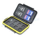 JJC Water-resistant Storage Memory Card Case fits 4SD 8 micro SD Cleaning Cloth