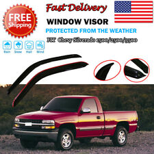 Window Visors Vent Guard Set for Chevy Silverado 1500/2500 1999 2000 2001 02-07