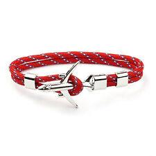 Metal Airplane Anchor Bracelet Rope Chain Charm Aviation Men Women Jewelry Gift
