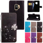 Pattern Leather Bling Card Wallet Magnetic Case Cover For Samsung Galaxy Phones/