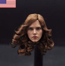 """ZCTOYS 1:6 Scale Scarlett Johansson Black Widow Female Head Sculpt F 12"""" Body US"""