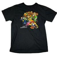 Mario Kart Super Nintendo T Shirt Men's Medium Black Short Sleeve