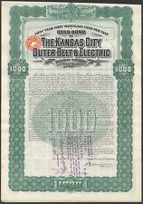 KANSAS City Cintura Esterna & ELECTRIC Railroad Co., 50 anni prima IPOTECA Bond,.